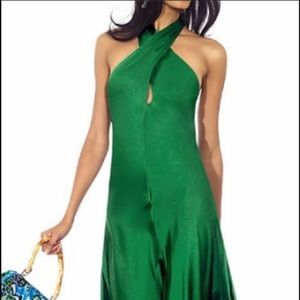 Banana Republic 🎄 Green Keyhole Halter Dress 8